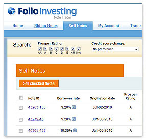 Note Trader by Folio Investing